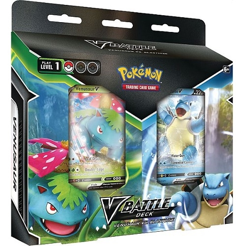 Pokemon V Battle Deck Bundle Blastoise V and Venusaur V - Pokemon kort